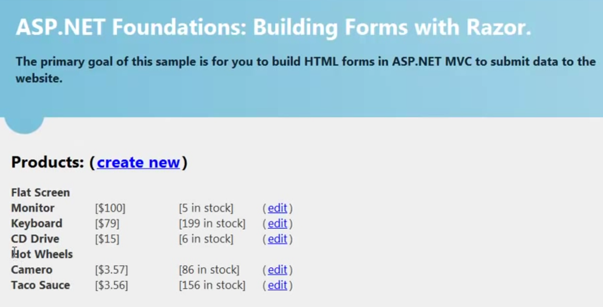 Building ASP NET MVC Forms with Razor (ASP NET MVC