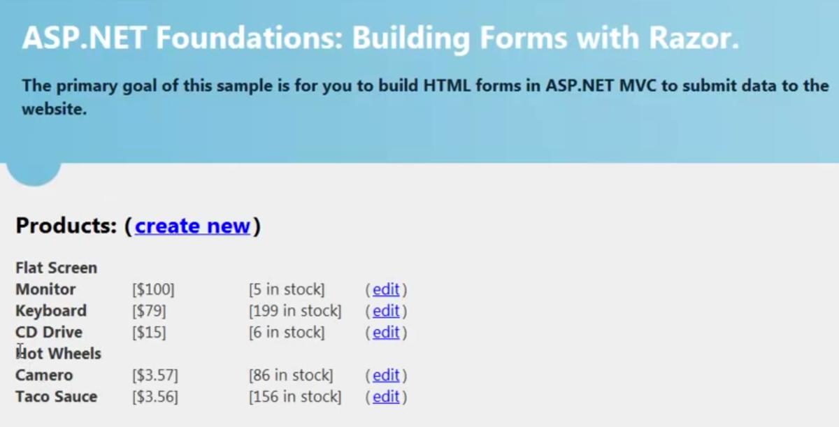 Building ASP NET MVC Forms with Razor (ASP NET MVC Foundations