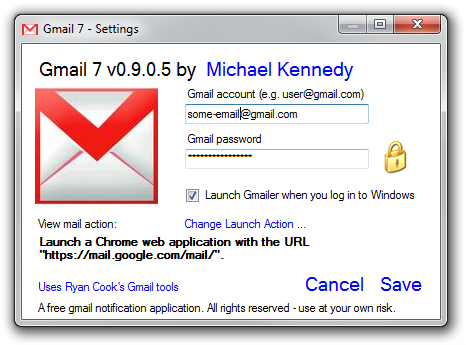 Gmail New Mail Notifications for Windows 7 – Michael Kennedy on