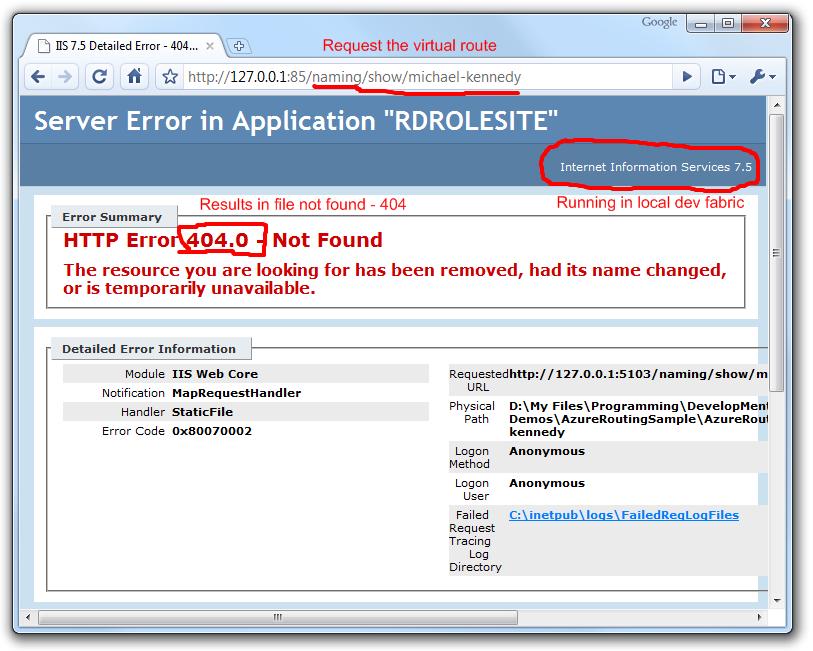 ASP NET Routing in Windows Azure Using WebForms – Michael