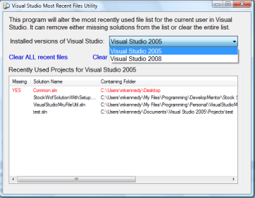 Visual Studio Tricks Series: #3 Managing the Recent Projects